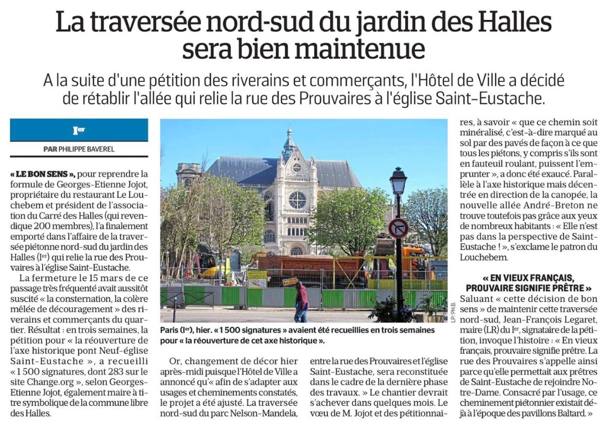 20180412_Le_Parisien_La_traversee_nord_sud_jardin_Halles_sera_bien_maintenue